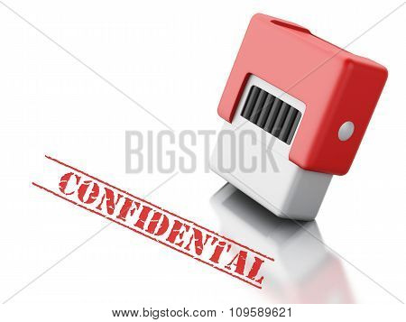 3D Stamp With The Word Top  Onfidental