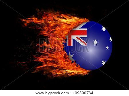 Flag With A Trail Of Fire - Australia