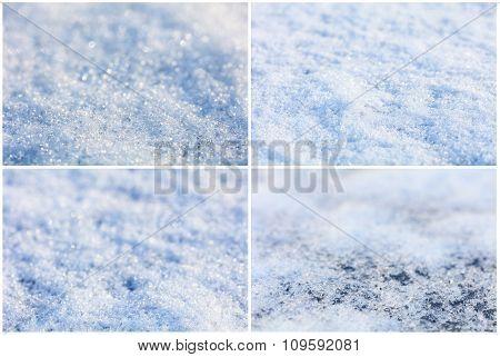 Texture of snow
