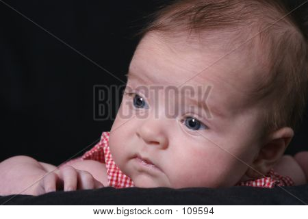 Infant Looks Away