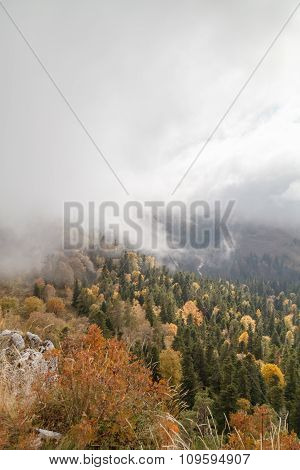 Autumn day in the mountains