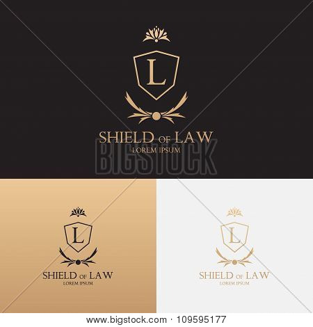 Law Office Logo With Shield