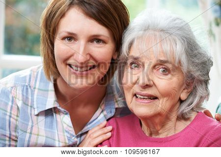 Portrait Of Senior Mother And Adult Daughter