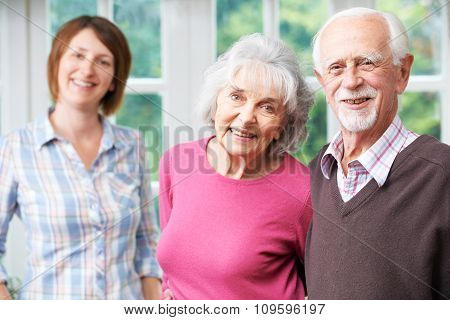 Senior Parents With Adult Daughter At Home