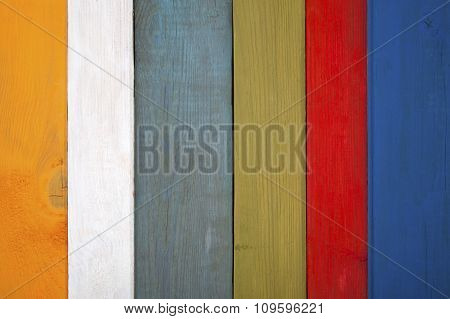 Background Of Colorful Old Boards..