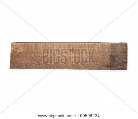 Old Wooden Board On A White Background..