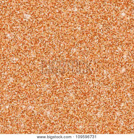 Bronze glitter seamless pattern, vector texture