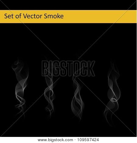 Set of cigarette smoke