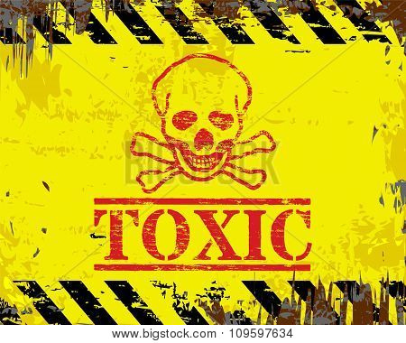 Toxic Enamel Sign