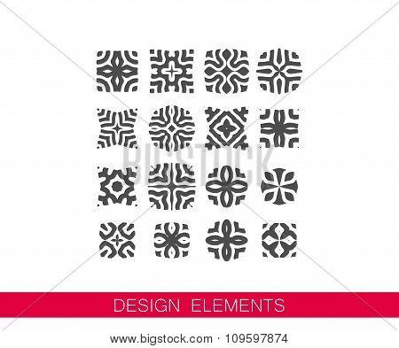 vector set of decorative elements for design