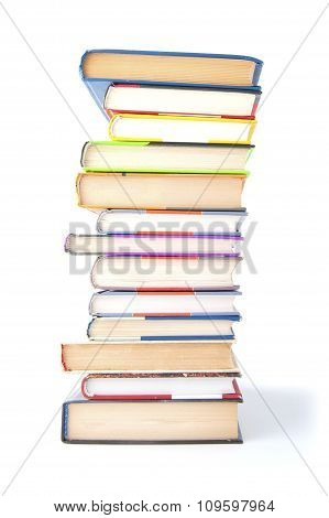 Stack Of Books On A White Background..