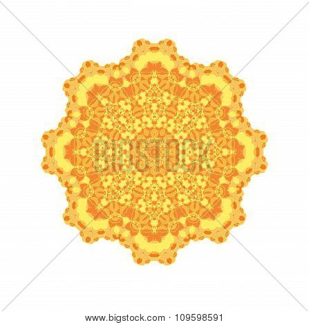 Sunny yellow circle
