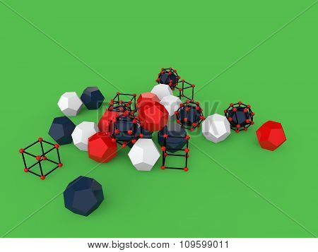 3d abstract geometric objects