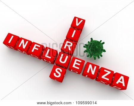 3d crosswords influenza virus text