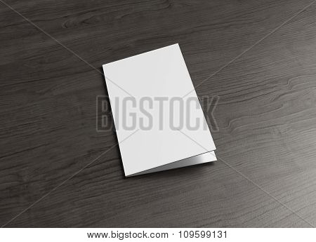 Leaflet Cover Page On Wood Table