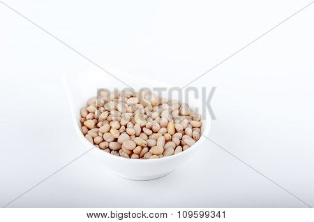 Pine Nuts On Backgraund