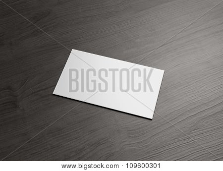 Business Name Card Horizontal Right Wood Table