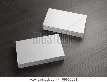2 Stack Of Business Cards On Table