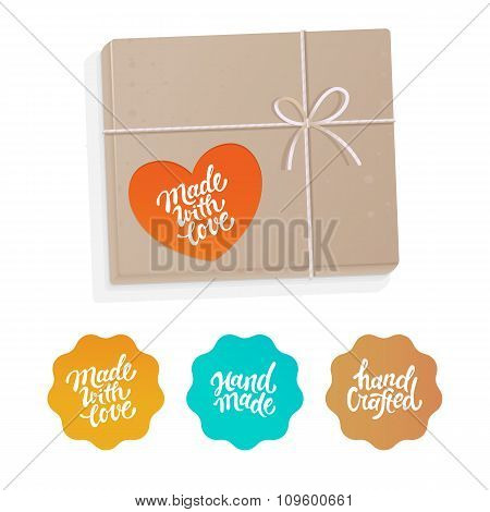 Vector Set Of Labels And Badges For Hand-made Products