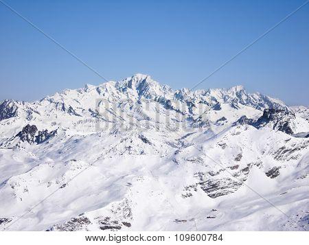 Landscape Of Mountains Under Snow