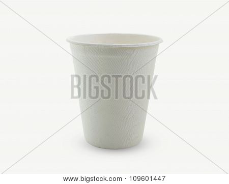 Paper Glass On White Background