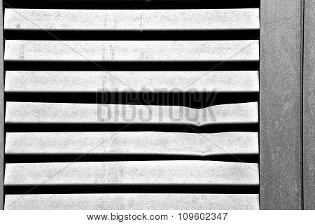 In Europe Italy Milan Old Architecture And Venetian Blind Wall