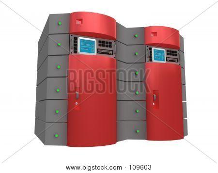 Red servidor 3d