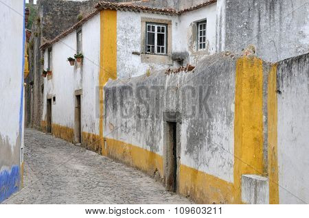 The Small Village Of Obidos In Portugal