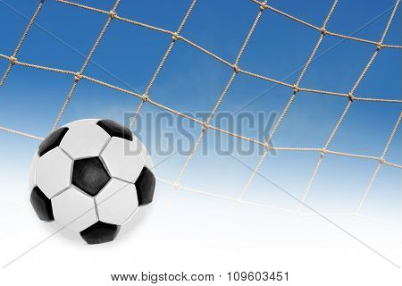 The Ball And A Fragment Of A Football Goal Nets