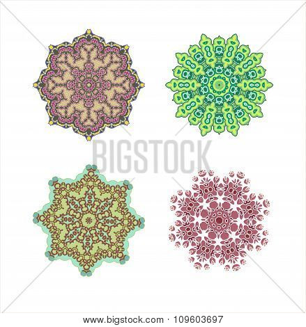 Mandala pattern set.