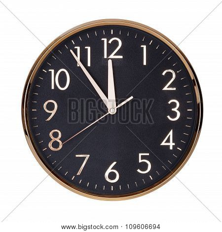 Five To Twelve On The Clock Face