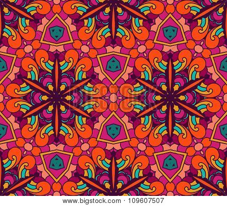 Abstract  ethnic seamless pattern floral