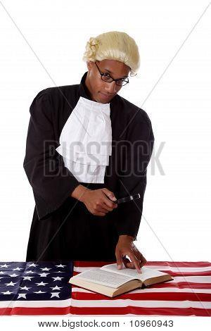 Jovem Africano. Juiz americano Man.