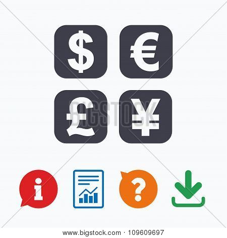 Currency exchange sign icon. Money converter