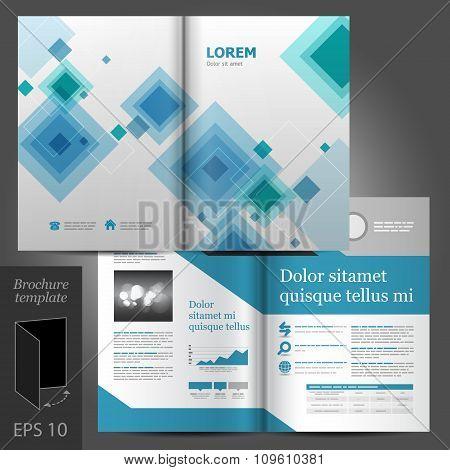 Gray Brochure Template Design