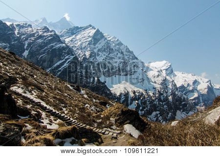 Trekking Toannapurna Base Camp In Nepal.
