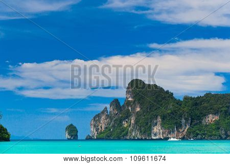 Tranquil Bay Blue Seascape