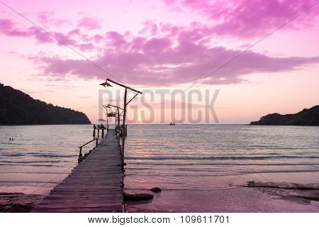 Sundown Serenity Jetty to Eternity
