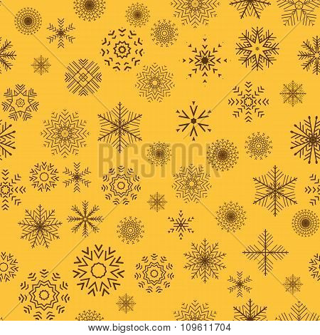 Christmas and New Year seamless gray pattern.