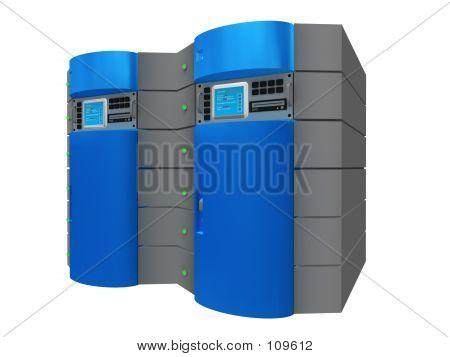 Blaue 3d Server