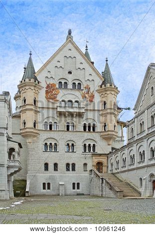 The Courtyard Of Neuschwanstein Castle