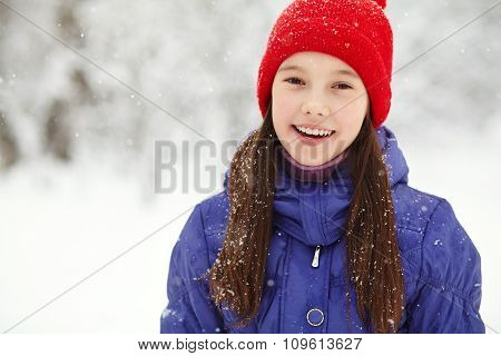 girl in the winter. teen outdoors