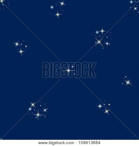 Starry sky seamless pattern