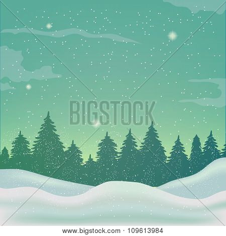 Winter Background, Landscape