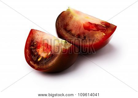 Brown Tomato Isolated Slices
