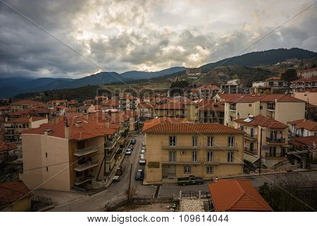 Cityview At Mountain Village Of Karpenisi, Evitania, Greece