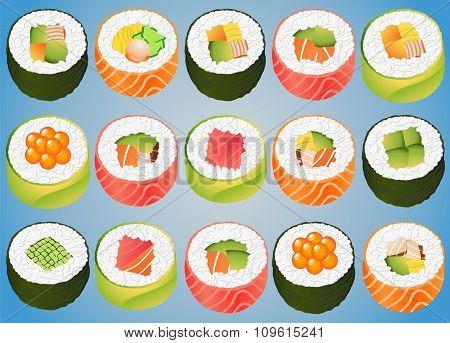 Sushi Rolls Sashimi Japan Tuna Salmon
