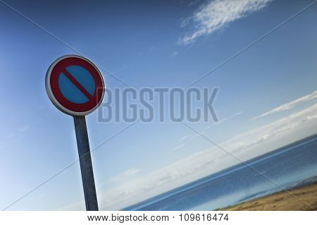 Road Sign At The Beach