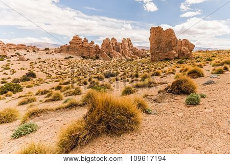Rock Formations In The Bolivian Altiplano