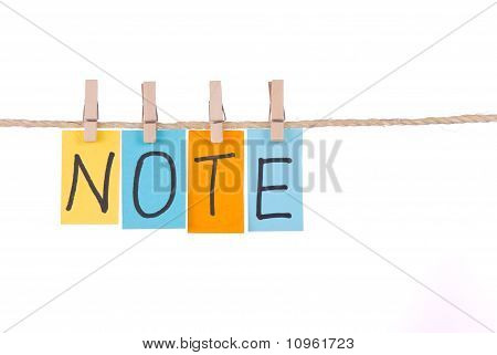 Note, Colorful Words Hang On Rope